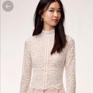 Aritzia Wilfred Adriane Lace blouse - medium